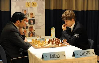 Echecs à Monaco : ronde 9 - Vishy Anand 0-1 Magnus Carlsen