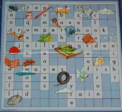 Junior Scrabble Words and Pictures.