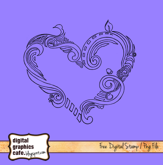 heart digistamp