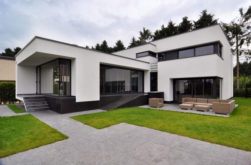 Hogares frescos residencia con interior sofisticado y una - Paleta de colores neutros ...