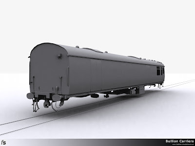 Fastline Simulation - Bullion Carriers: An in development render of the NWX Bullion Van from the van end.
