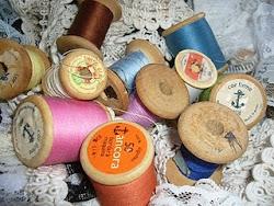 maquinas e linhas de costuras antigas