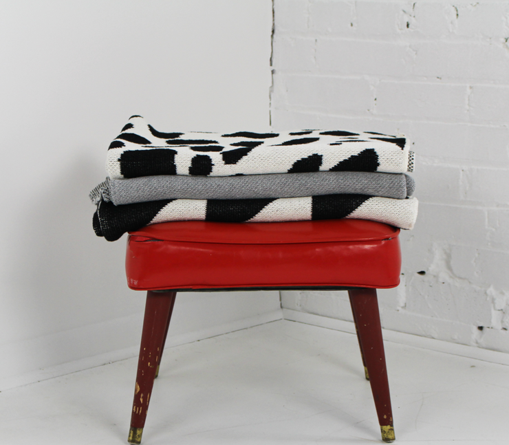 Little Cocoa Bean pre-spring 2015 - organic blankets in monochrome