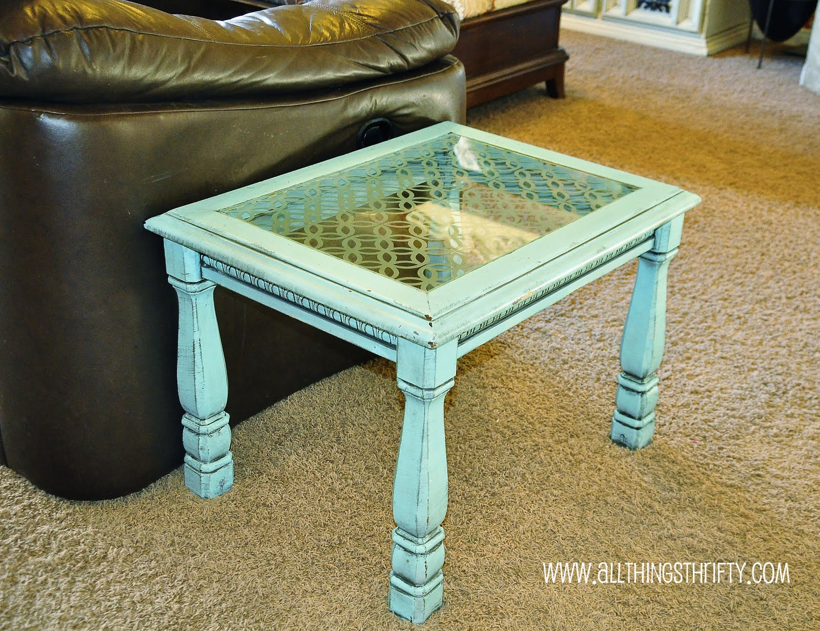 Add character to glass furniture the easy way