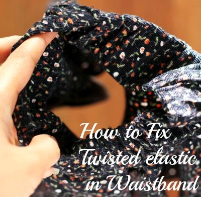 Fix twisted elastic in waistband