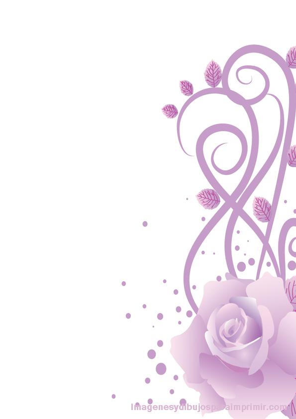 Folios decorados con rosas lilas imagenes dibujos para for Imagenes de techos decorados