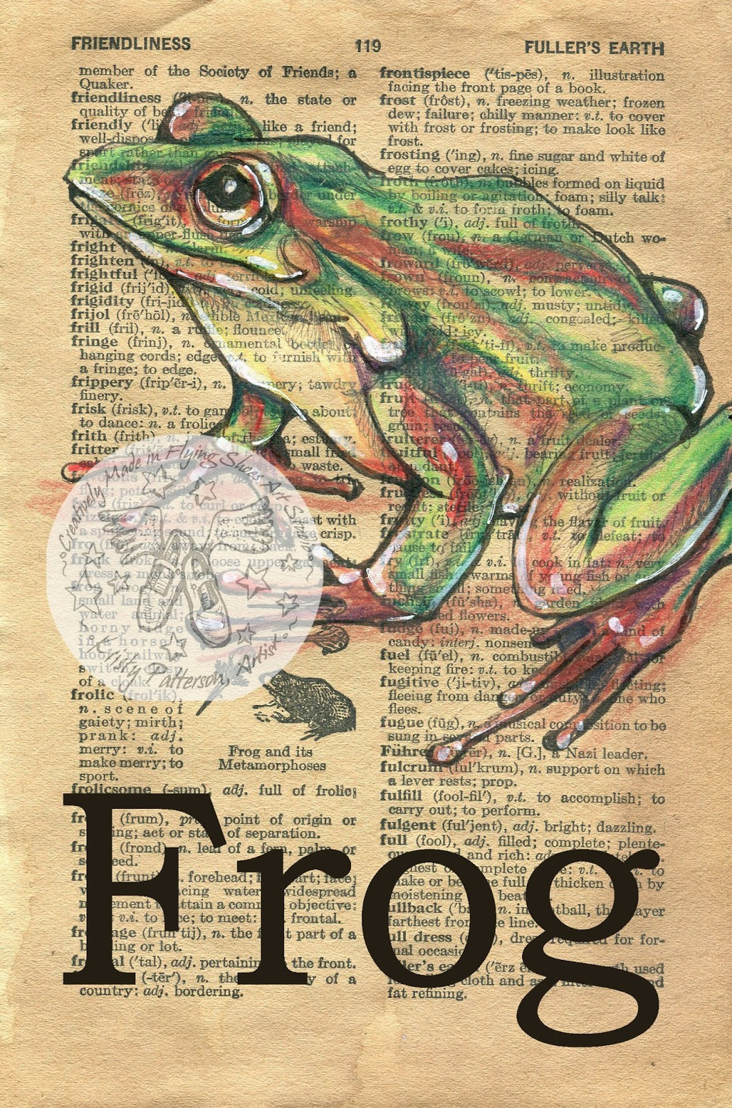 1948 brown butterfly frog nest for Frog studio