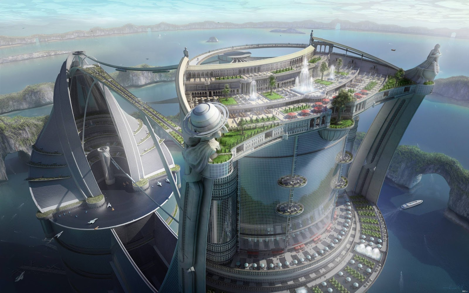 City of the future 3d concept all about cool gadget Concept buildings