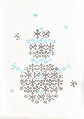 Snowman Christmas screen print2