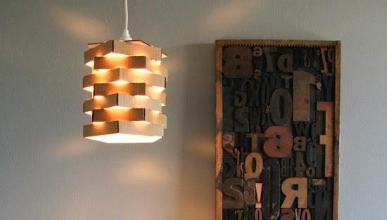 la reines blog pentagon lampe aus pappe selber machen schnell und einfach. Black Bedroom Furniture Sets. Home Design Ideas