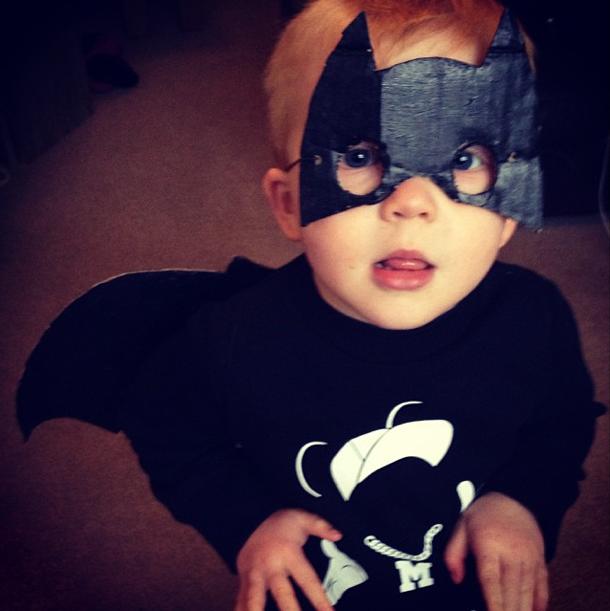 mother diaries, fancy dress, bat man, batman, masks of parenting, parenting masks, putting on a front, parenting, motherhood