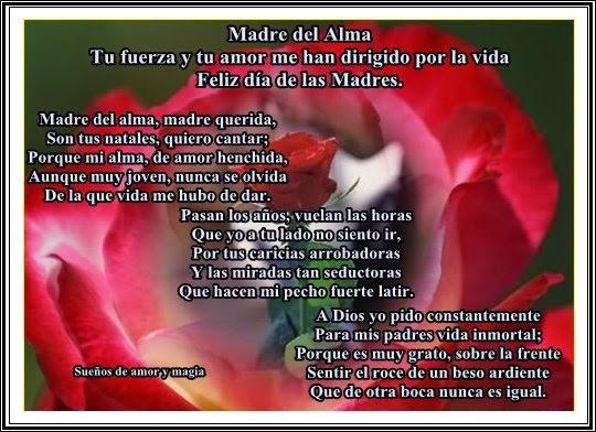 Gracias Madre Poemas mi confianza esta en ti dios : feliz dÍa de las madres
