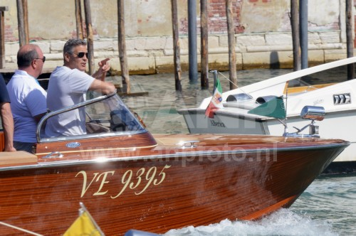 George Clooney arrives in Venice 24414816