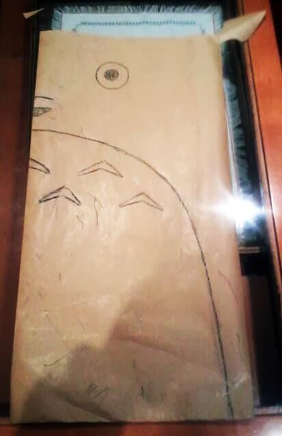 patron Totoro oreja pequeña