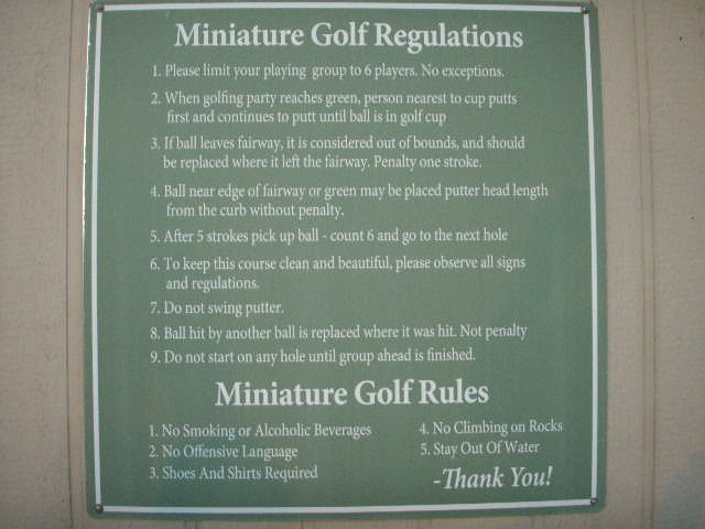 golf card game rules 6 cards tricks