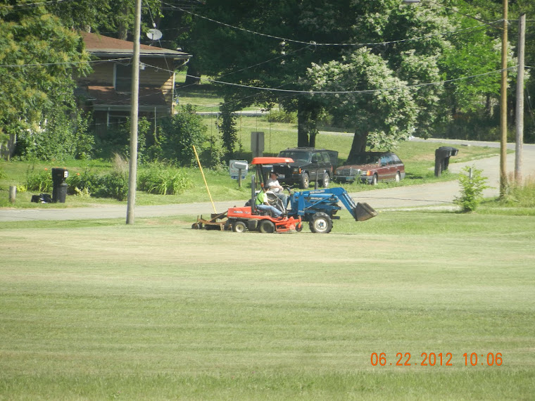 The mowing,and re-mowing of the BLV ballfield.