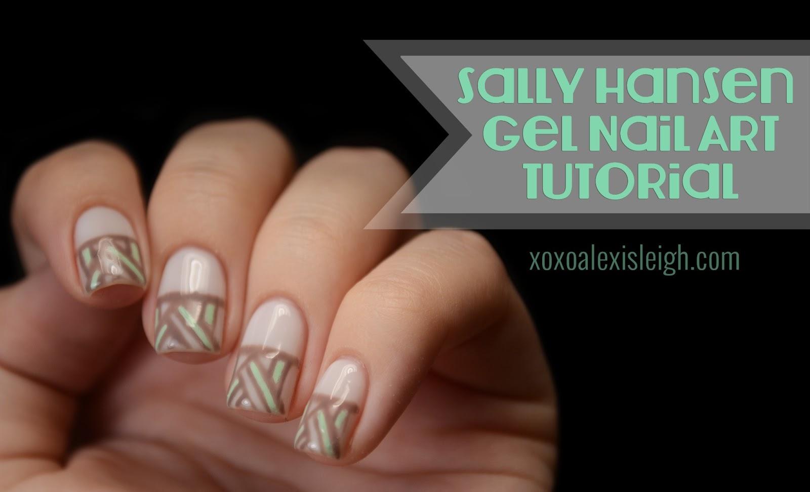 XOXO Alexis Leigh: Sally Hansen Gel Nail Art Tutorial