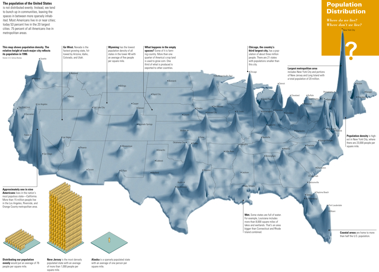 Map of the week 12 12 2011 u s population density