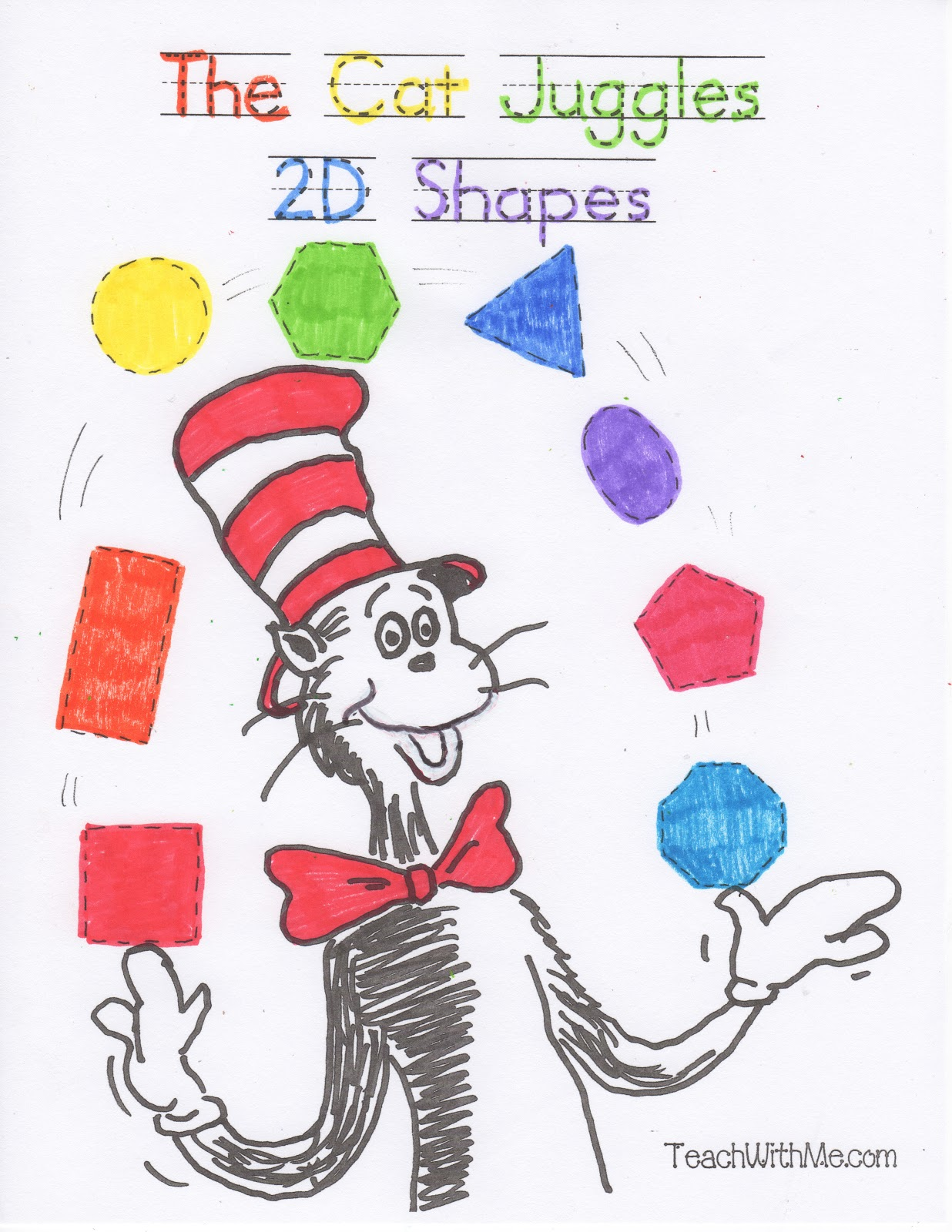 2d Shapes Worksheet Way to review 2d shapes,