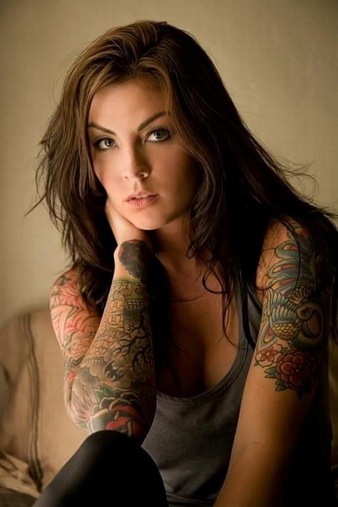 girl tattoo sleeves. tattoo sleeves for girls.