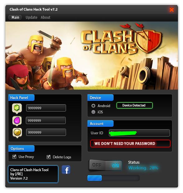 Clash of Clans hack tool X no survey