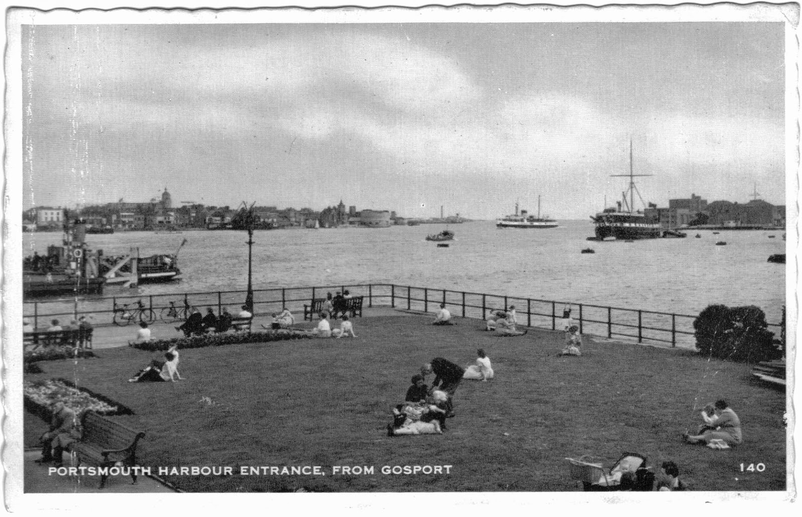1950s view of Portsmouth Harbour entrance from Gosport