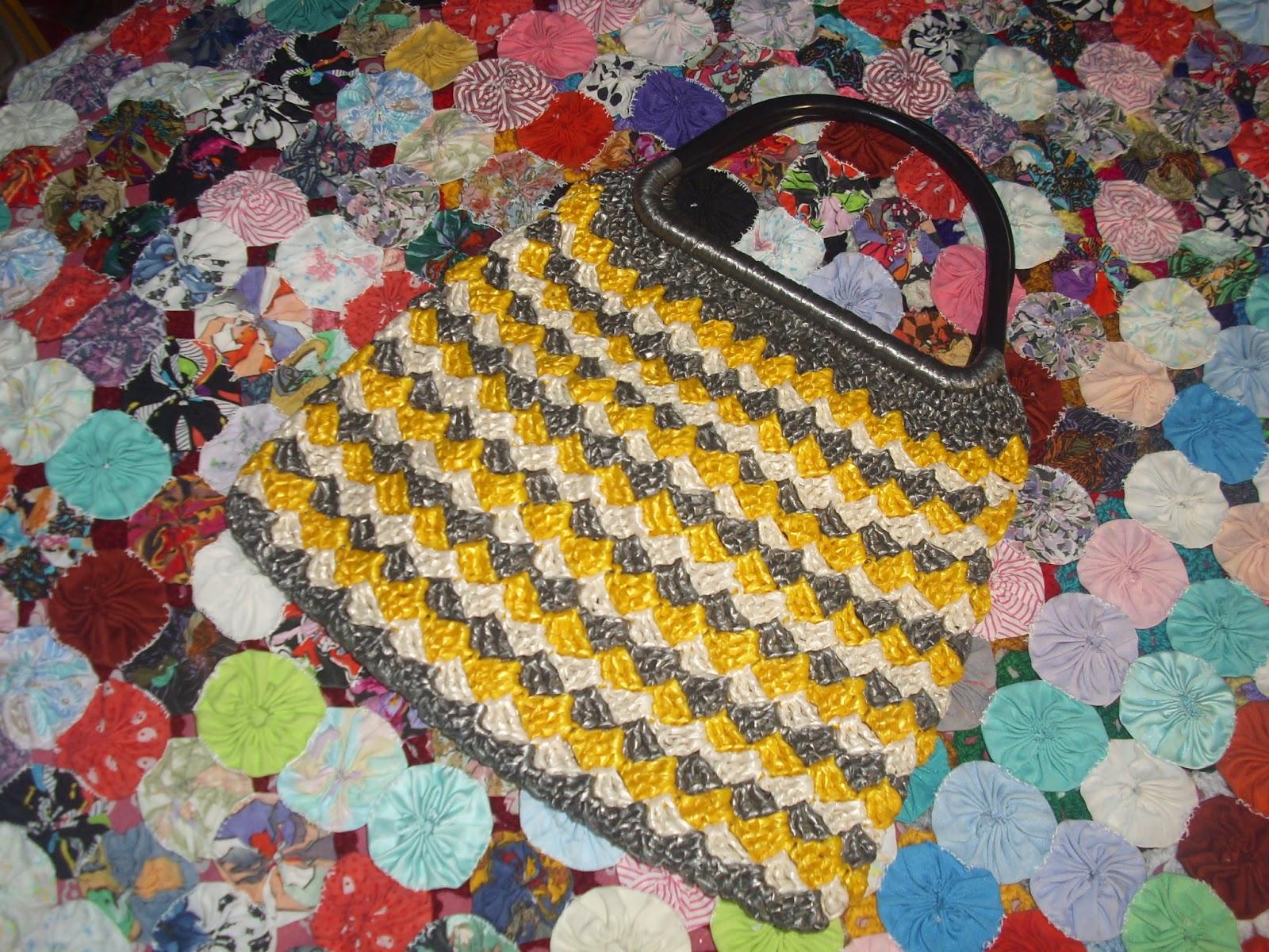 Arañito tejedor: Bolsa de rafia tejida en crochet