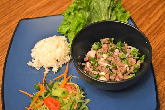 Beef Laab & Cucmber Salad - Spicy Thai Salad