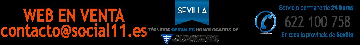 Reparación de termos en Sevilla · WEB EN VENTA · contacto@social11.es