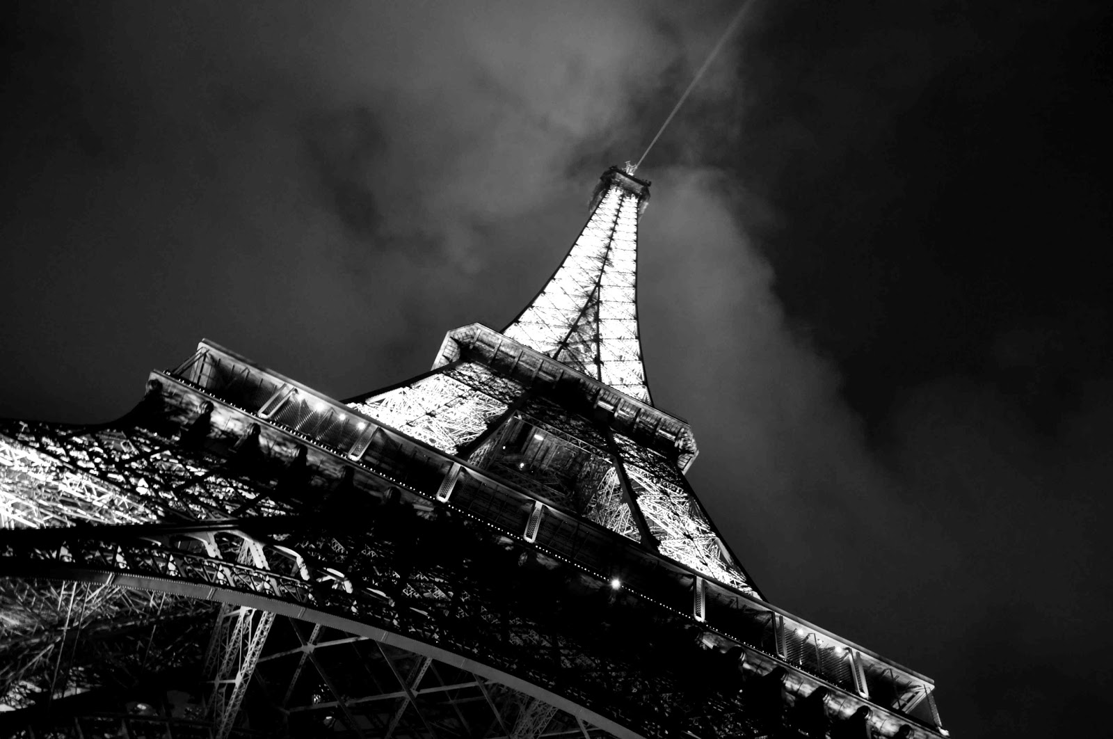 Eiffel Tower Paris Black and white Photo