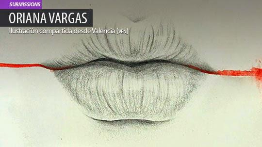 Ilustración. Labios de ORIANA VARGAS