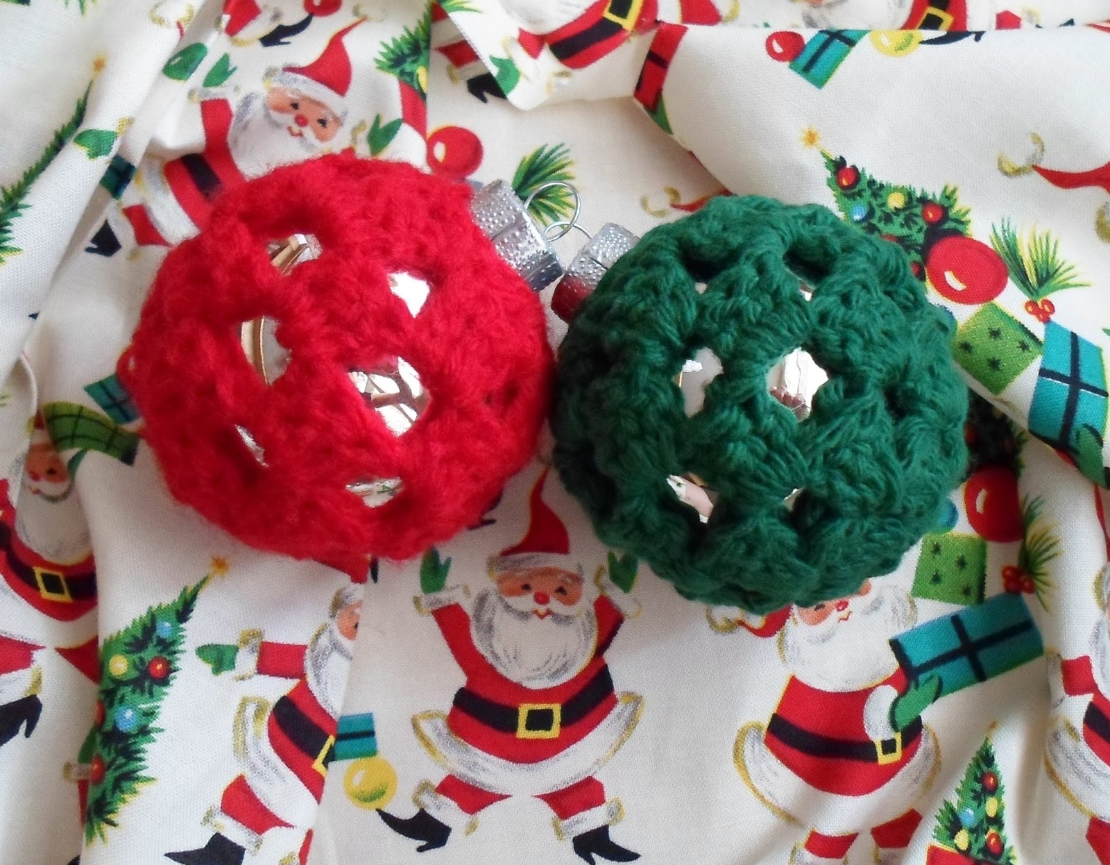 Pig christmas ornaments - Crochet Granny Square Ornament Covers Christmas In July