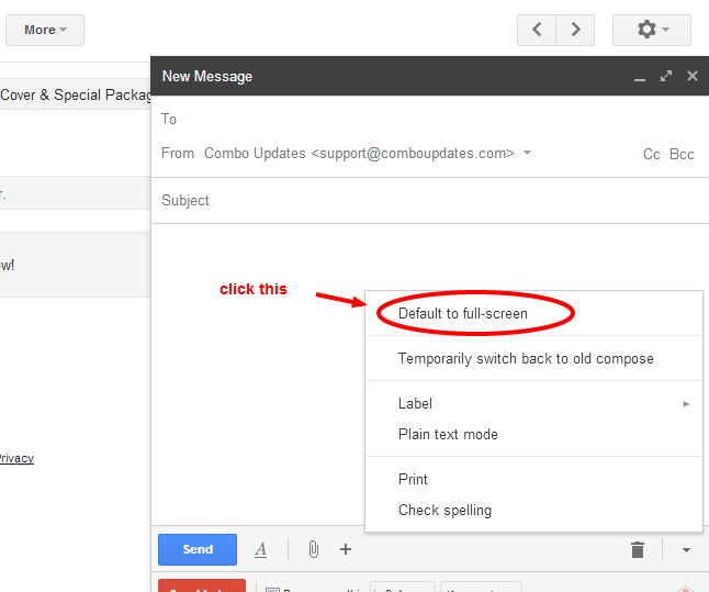 Google makes composing in Gmail full screen with default formatting tools and easy toggle controls