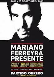 A UN AÑO DEL ASESINATO DE MARIANO FERREYRA