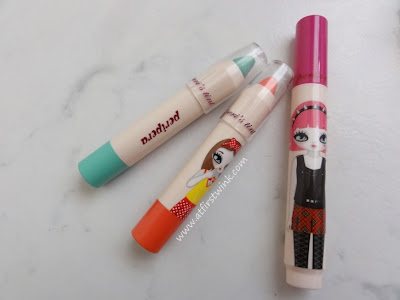 Peripera peri's tint crayons with freebie pen