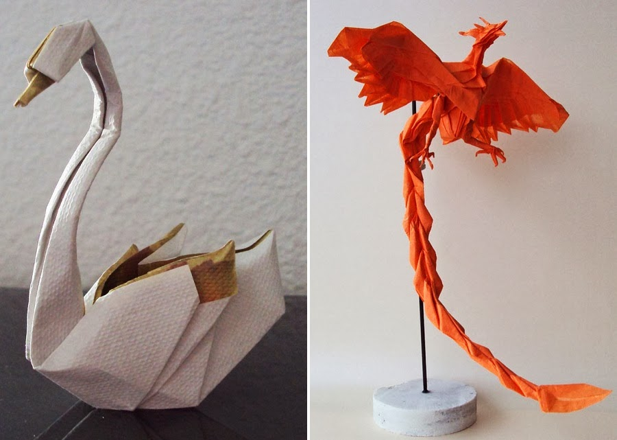 simply creative origami animal sculptures by matthieu georger. Black Bedroom Furniture Sets. Home Design Ideas