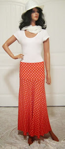 Orange Polka Dot Stretch Knit Jersey Sassy