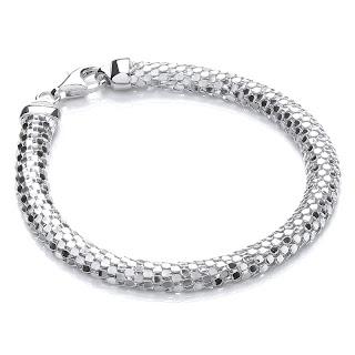 J Jaz Silver Mesh Bracelet