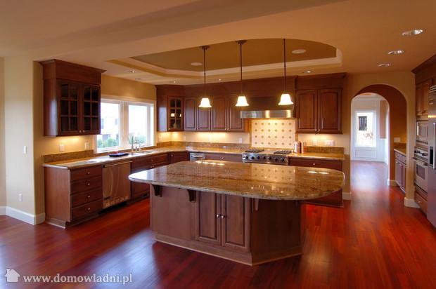 Wszystko o ogrodach otwarta kuchnia style - Cherry wood kitchen ideas ...
