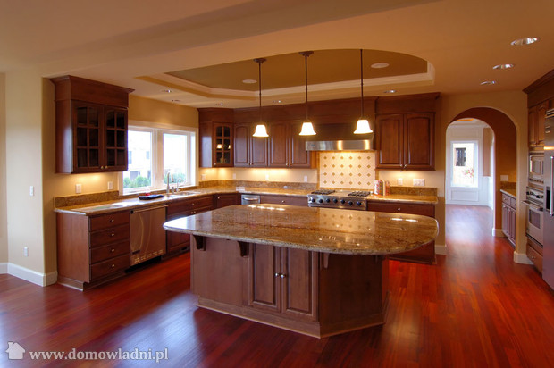 Wszystko o ogrodach otwarta kuchnia style Wood kitchen design gallery