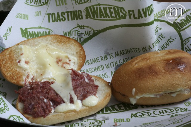 Quiznos Corned Beef Sandwich