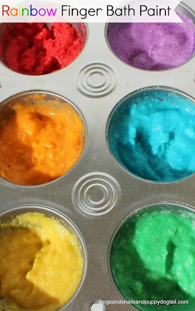 Rainbow Finger Bath Paint