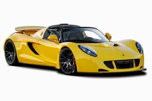 Hennessey Venom GT Spyder صور سيارات: هينيسي فينوم جي تي سبايدر الصفراء