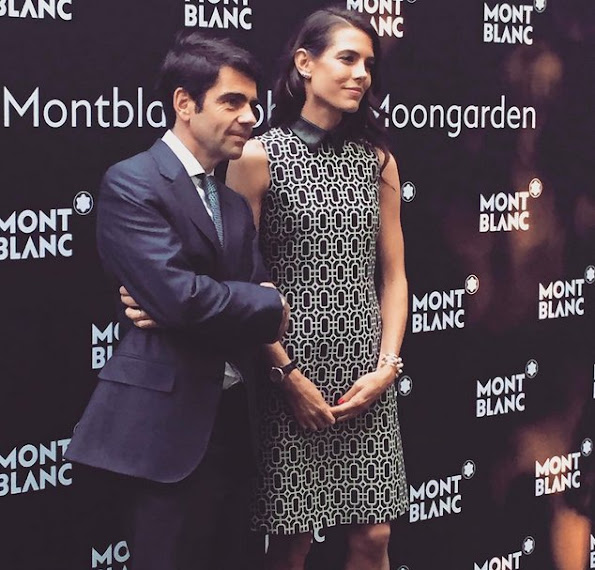Charlotte Casiraghi and Virginie Ledoyen attend Montblanc Boheme Event Paris at Orangerie Ephemere
