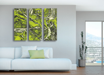 abstract, green, wall art, canvas art, contemporary, modern,