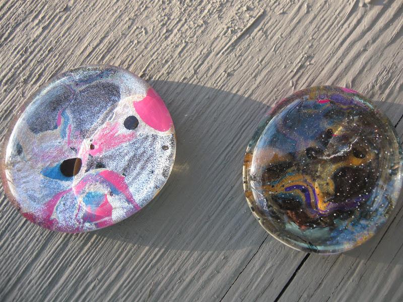 Craft klatch marbled nail polish glass stones for Crafts using nail polish