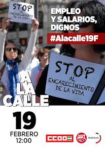 """Concentración """"Empleo y salarios dignos. #Alacalle19F"""""""