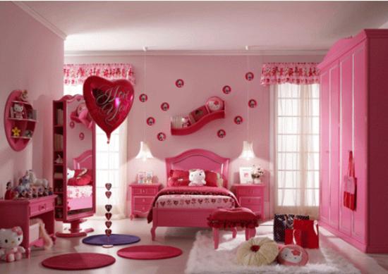 0012 Decoração de quarto rosa