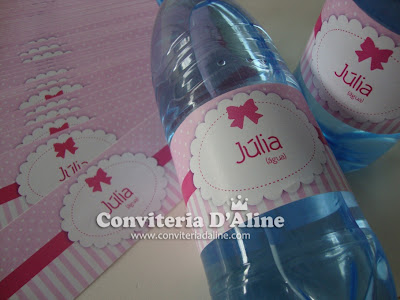 rótulos personalizados ursinha rosa