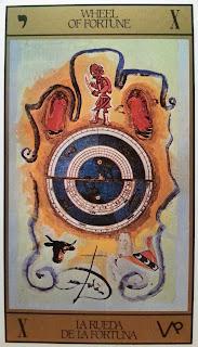 Rueda de la Fortuna. Tarot de Dalí